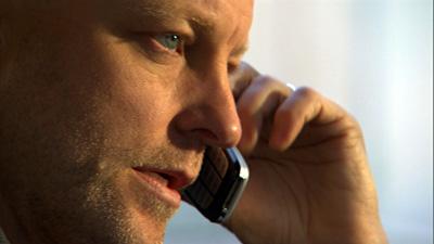 Grunning on the phone